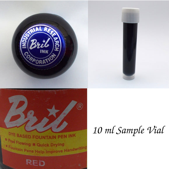Bril Red Fountain Pen Ink - 10 ml Sample Vial