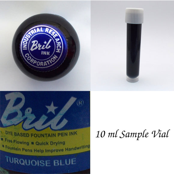 Bril Turquoise Blue Fountain Pen Ink - 10 ml Sample Vial