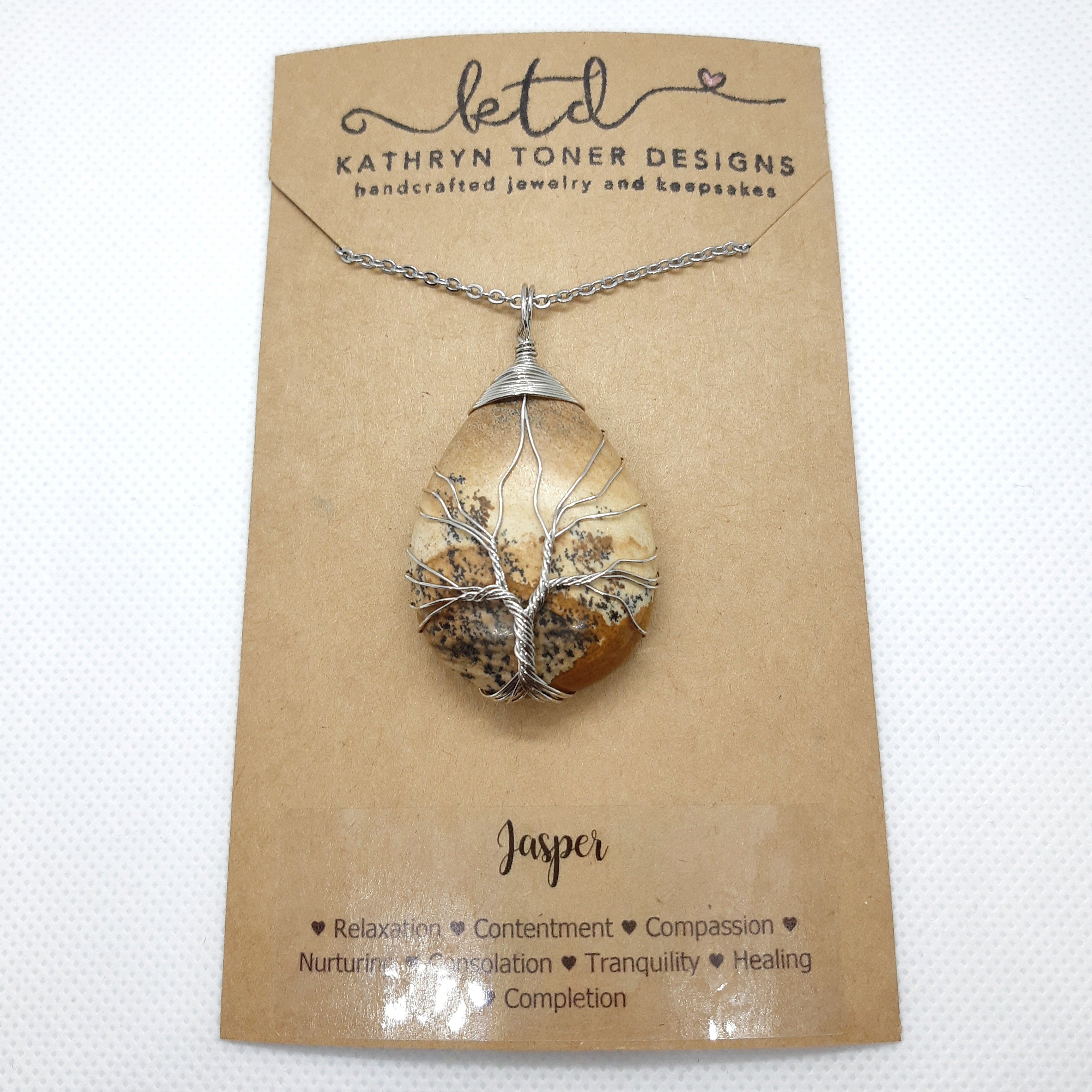 Picture Jasper Tree of Life Necklace