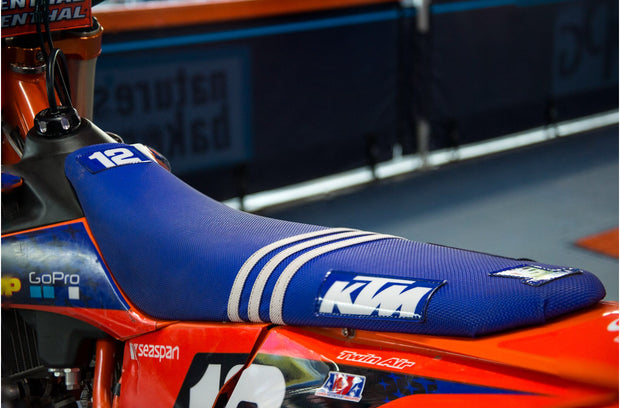 TLD KTM FACTORY ISSUE SEAT COVER - BLUE