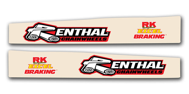 Honda Swingarm Decals - Clear