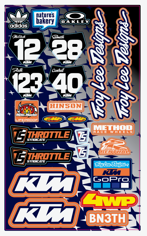 TLD TEAM UNIVERSAL DECAL SHEET