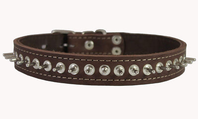 Thick Genuine Leather Spiked Dog Collar1