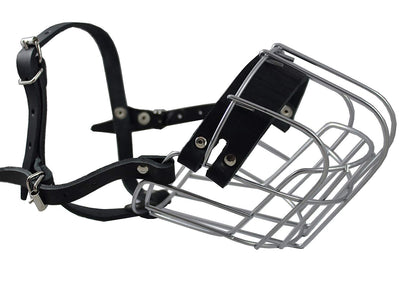 Dogs My Love Metal Wire Basket Dog Muzzle Rottweiler Female. Circumference 14