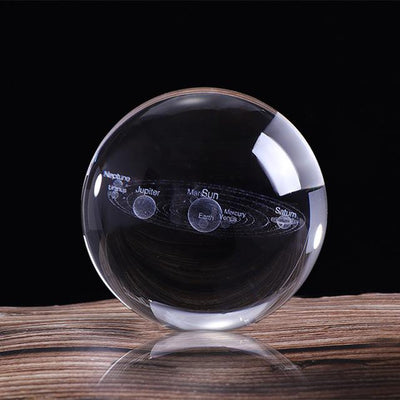 3D Solar System Crystal Ball 60/80mm Crystal Globe Wat Crate 60mm just ball