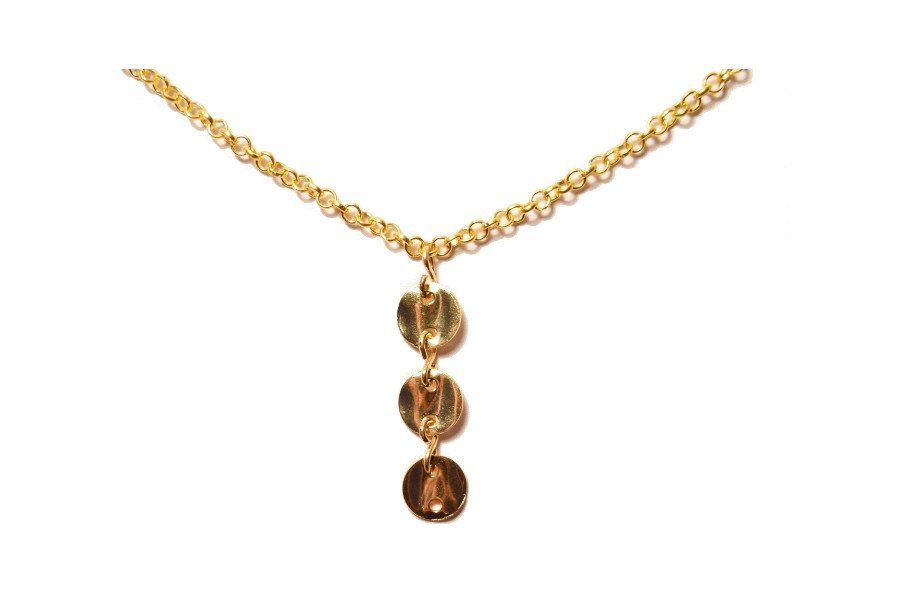 Three coin necklace