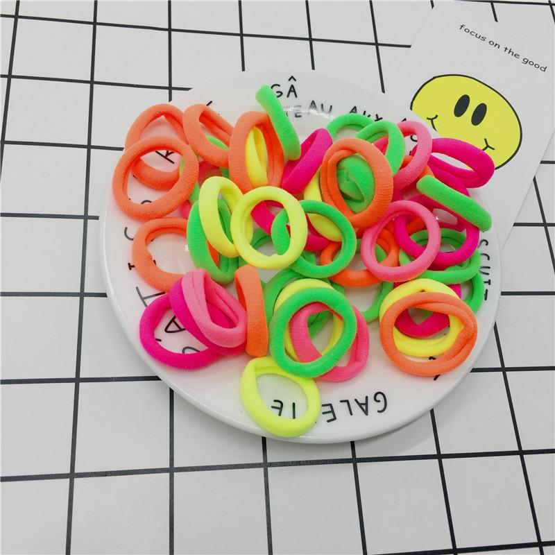 #AD0043 50pcs/lot 3cm Hair rubber band accessories cheapest rezinochki wholesale fluorescence candy colors hair elastics