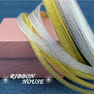 - (25 yards/roll) 3/8'' (10mm) Gold and Silver ribbon Christmas packaging ribbon high-grade quality squares ribbons wholesale -   jetcube