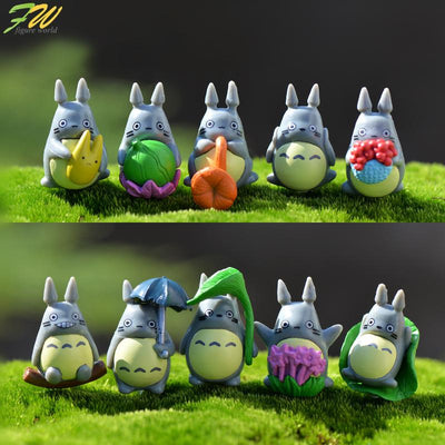 - (10pcs/lot) my neighbor Totoro action figure gifts doll cute miniature figurines Toys 1-3cm PVC plactic japanese anime1601129 -   jetcube