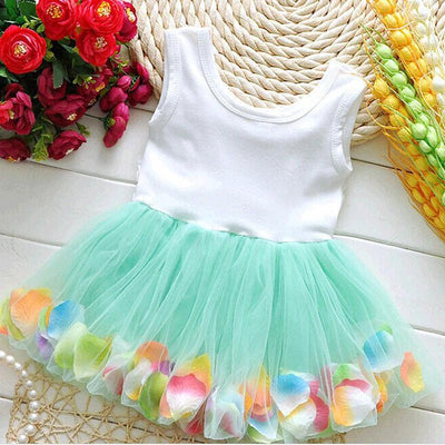 Monkids Christmas Dress Baby Fashion Colorful Mini Tutu Baby Girls Dress Floral Clothes Princess Baby Dress Clothing