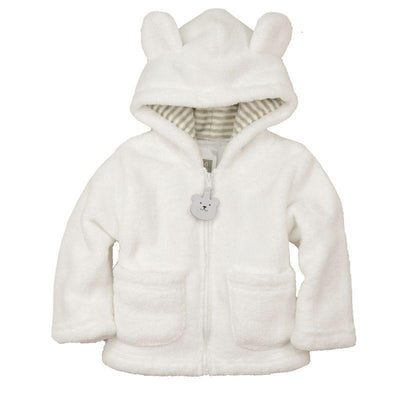 - 2014 spring autumn Coral velvet baby jacket/coat long-sleeved hooded infant boy girl carter thick tops -   jetcube