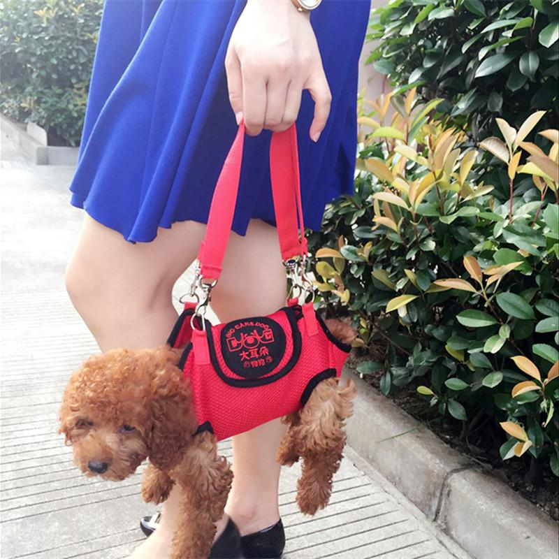 Multifunction Pet Carrier Shoulder Bag Harness Cat Dog Clothes Mesh Teddy Puppy Tote Sling Bag Outdoor Traction Rope Backpack