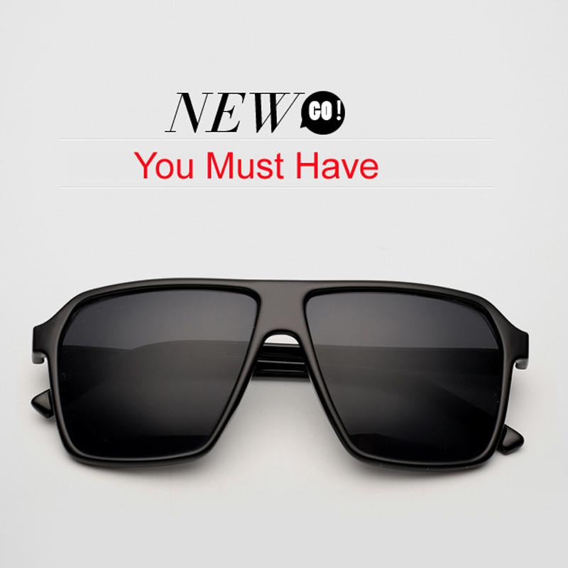 Pro Acme New Big Oversized Steampunk Square Sunglasses Men SKULL Logo All Black Sun Glasses Women Retro gafas de sol CC0442