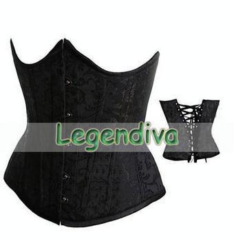 MOONIGHT Sexy Underbust Brocade Gothic Corsets And Bustiers Corselet Waist Corset Plus Size SML XL 2XL 3XL 4XL 5XL 6XL