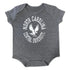 Tiny NCCU Eagle Bodysuit in Gray - HBCUprideandjoy