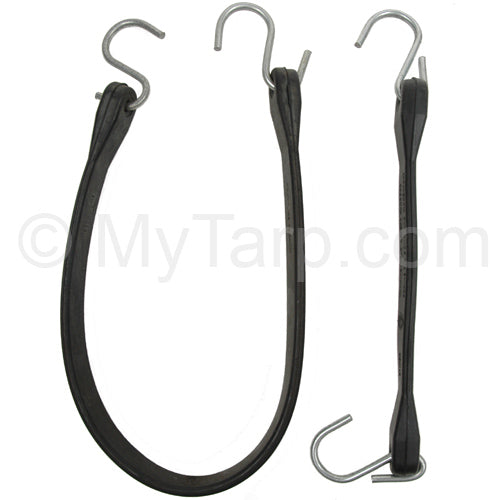 Tarp Bungee Rubber Tie-Down With Attached S-Hooks