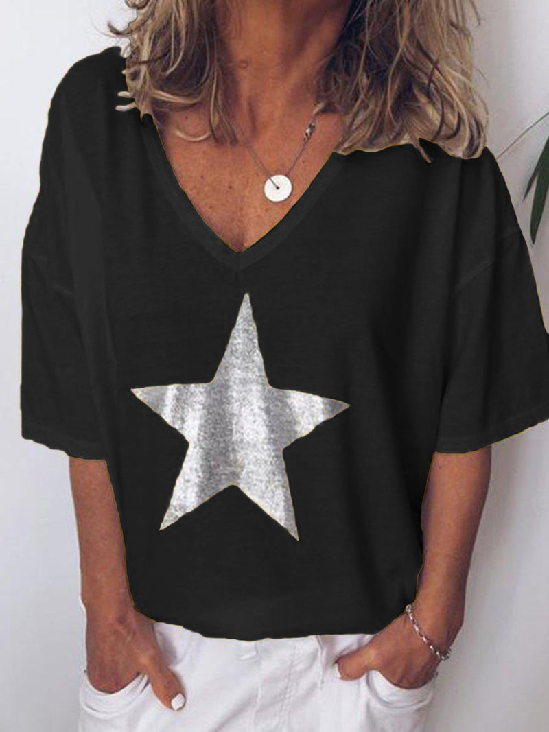 Star Thermoprint V Neck T-shirt