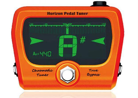 The GoGo Tuners Horizon Limited Edition Orange Chromatic Pedal Tuner