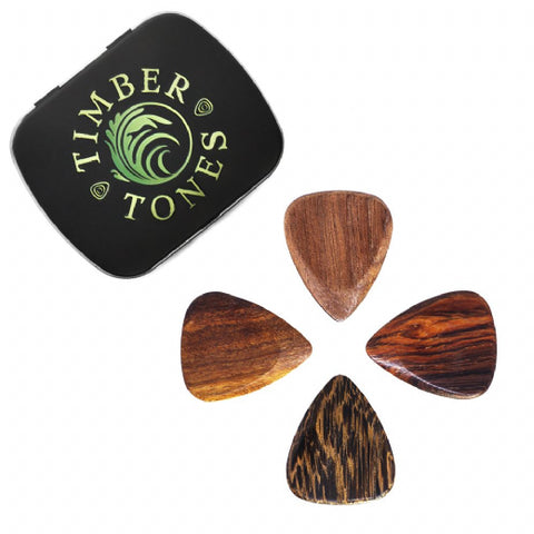 Timber Tones Acoustic Mixed Tin of 4 Guitar Picks