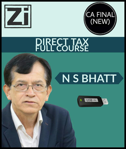 CA Final (New) Direct Tax Full Course Video Lectures By NS Bhatt - Zeroinfy