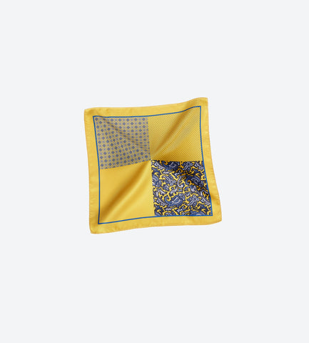 Yellow-Blue Pocket Square