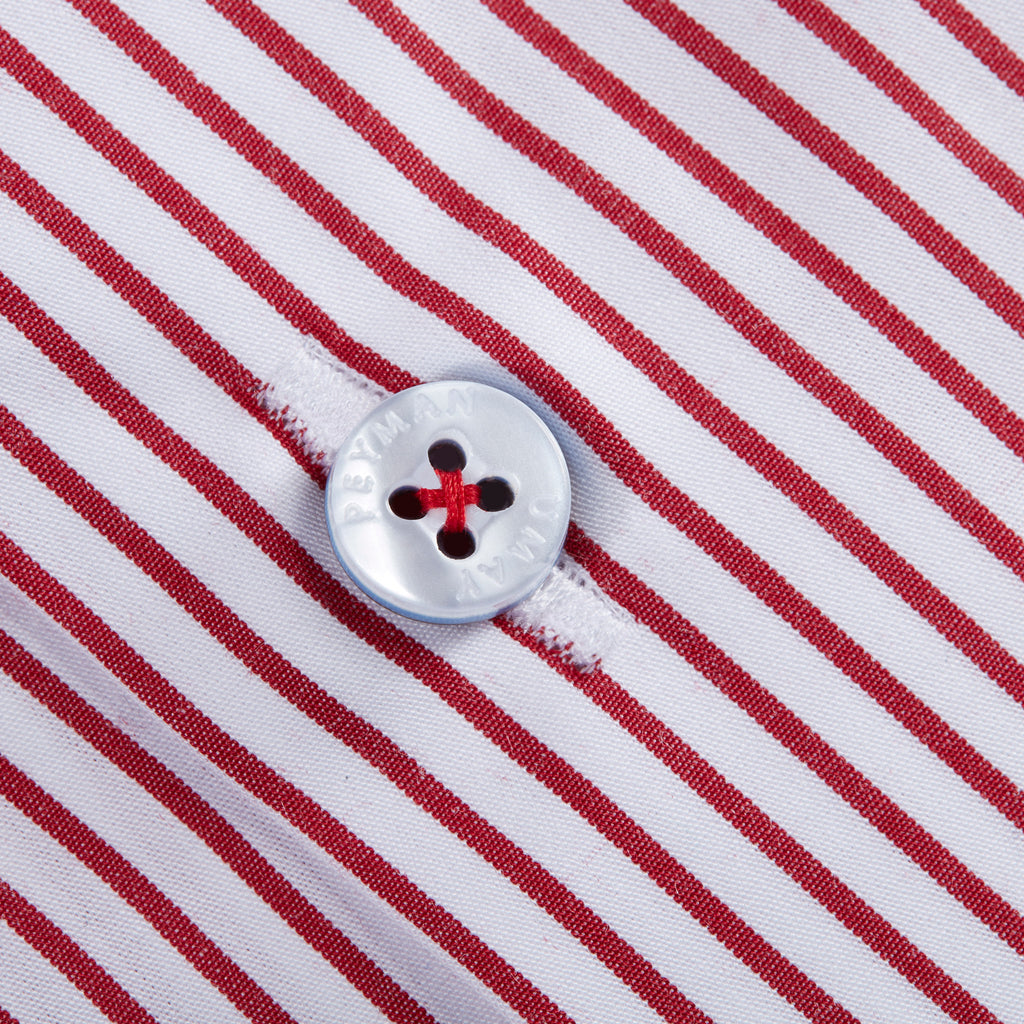 Red Pin Striped Shirt