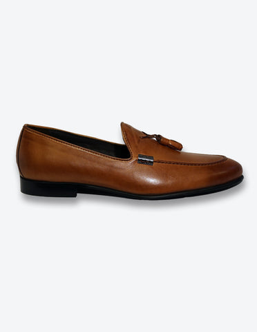Tobacco Tassel Loafer