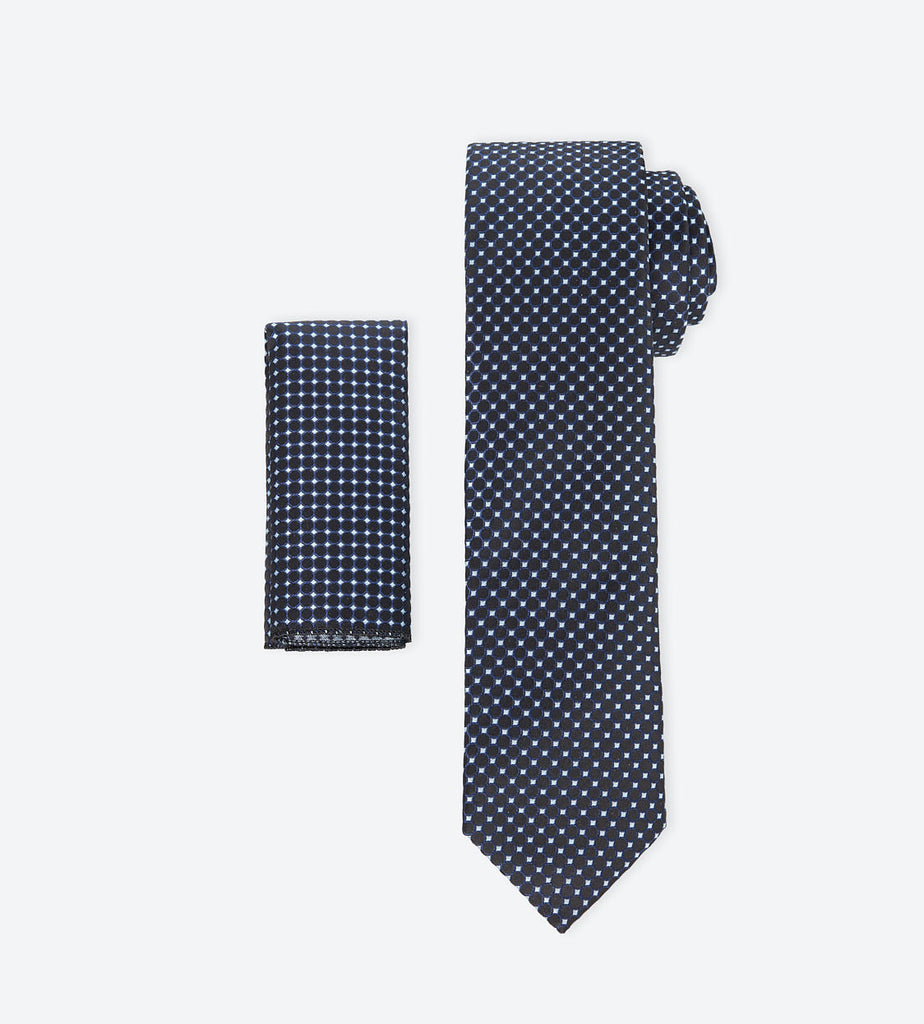 Black-White Dotted Tie