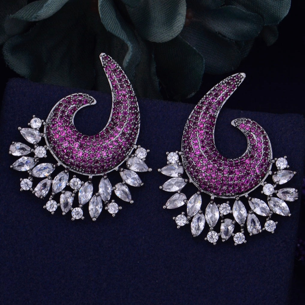 Evening earrings.