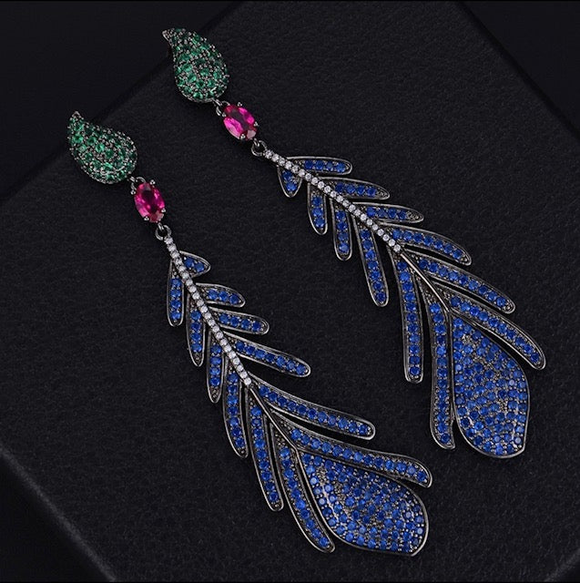 Long Feather Earrings