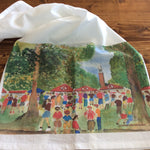 The Quad at University of Alabama Watercolor Tea Towel