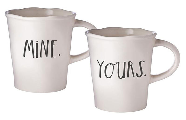 Stem Print MINE + YOURS Cafe Mugs (Set of 2)