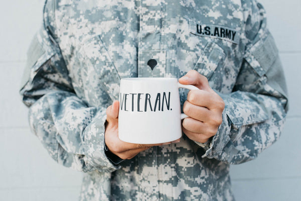Stem Print Tapered VETERAN Mug (Set of 2)