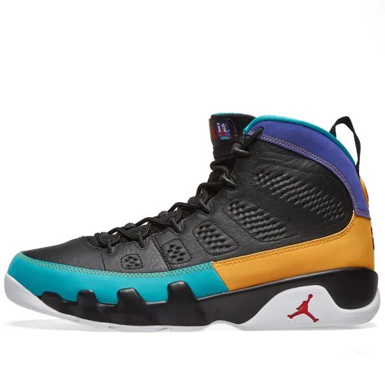 Air Jordan 9 Retro - Black/Red Concord/Gold - Workout Crew Athletic Online