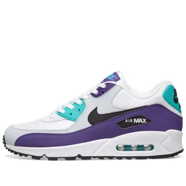 Nike Air Max 90 Essential - White/Purple/Jade - Workout Crew Athletic Online