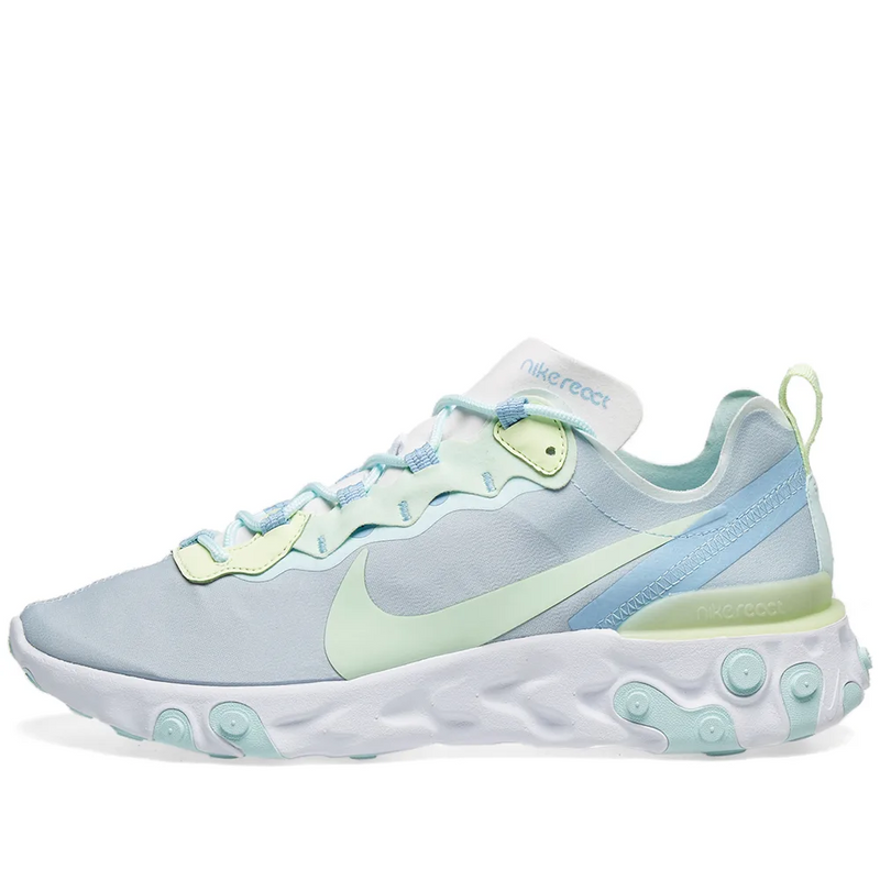 Nike Womens React Element 55 - White/Spruce & White - Workout Crew Athletic Online