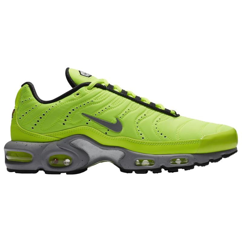 Nike Mens Air Plus - Volt/Matte Silver/Wolf Grey/Black - Workout Crew Athletic Online