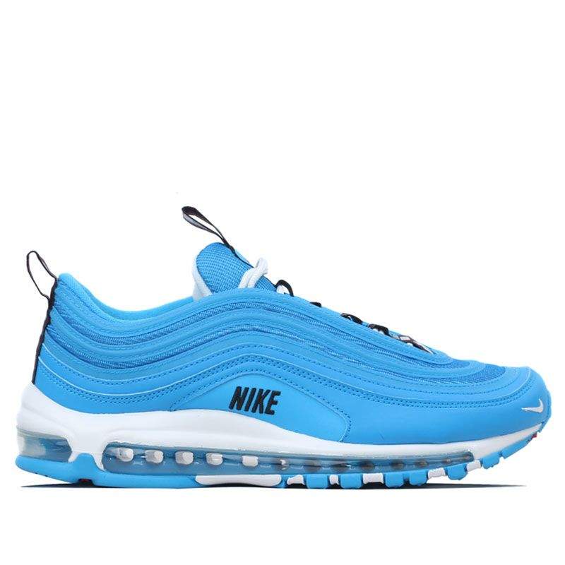 Nike Air Max 97 Premium - Blue/White/Black/Red - Workout Crew Athletic Online