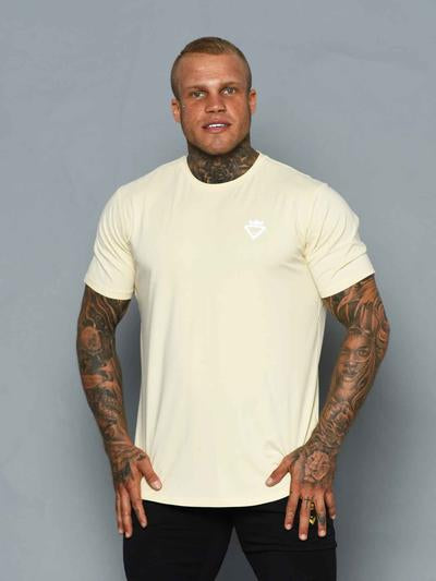 Beast & Beauty Mens Aesthetic Tee - Beige - Workout Crew Athletic Online