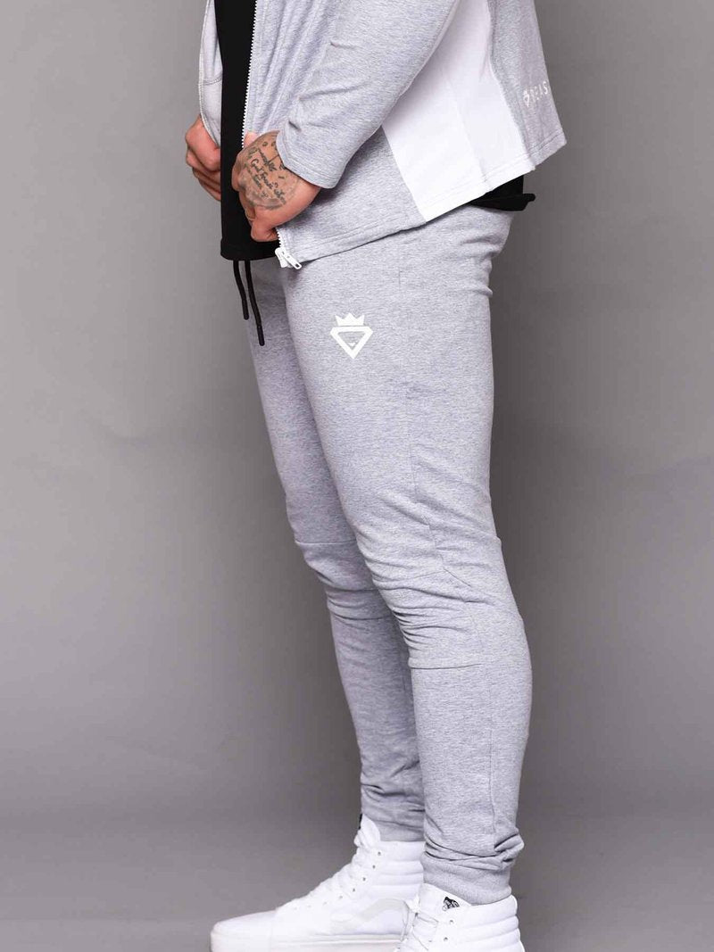 Beast & Beauty Mens Track Pant - Grey - Workout Crew Athletic Online