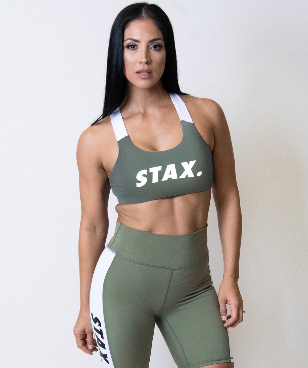 Stax. Luxe Wmns Crop - Olive - Workout Crew Athletic Online