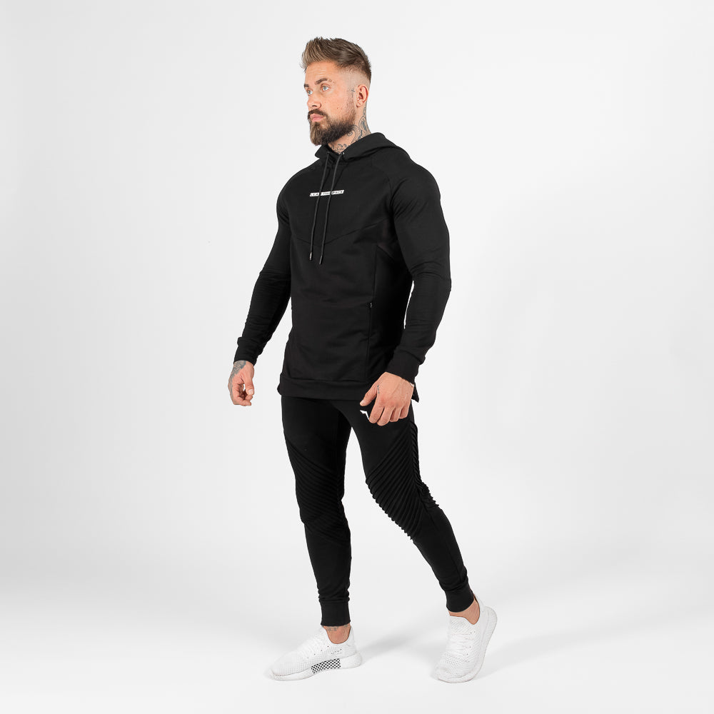 Squat Wolf Statement Ribbed Joggers - Black - Workout Crew Athletic Online