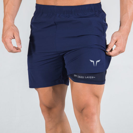 Squat Wolf 2 in 1 Dry Tech Shorts Navy