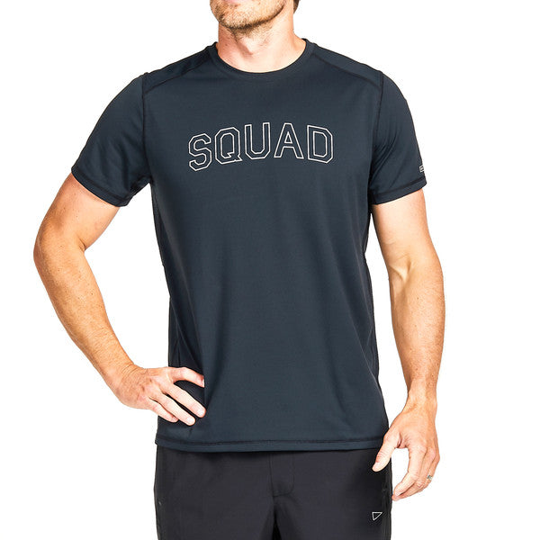 SQD Athletica - Orion Tee Navy Heather - Workout Crew Athletic Online