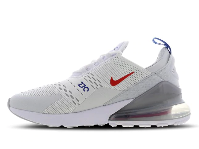 Nike Air Max 270 - White-Habanero Red-Game Royal - Workout Crew Athletic Online