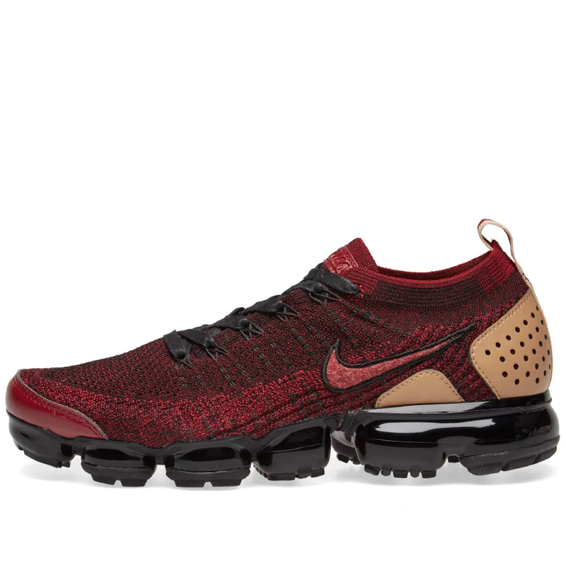 Nike Air Vapormax Flyknit 2 NRG Team Red/Black/Tan - Workout Crew Athletic Online