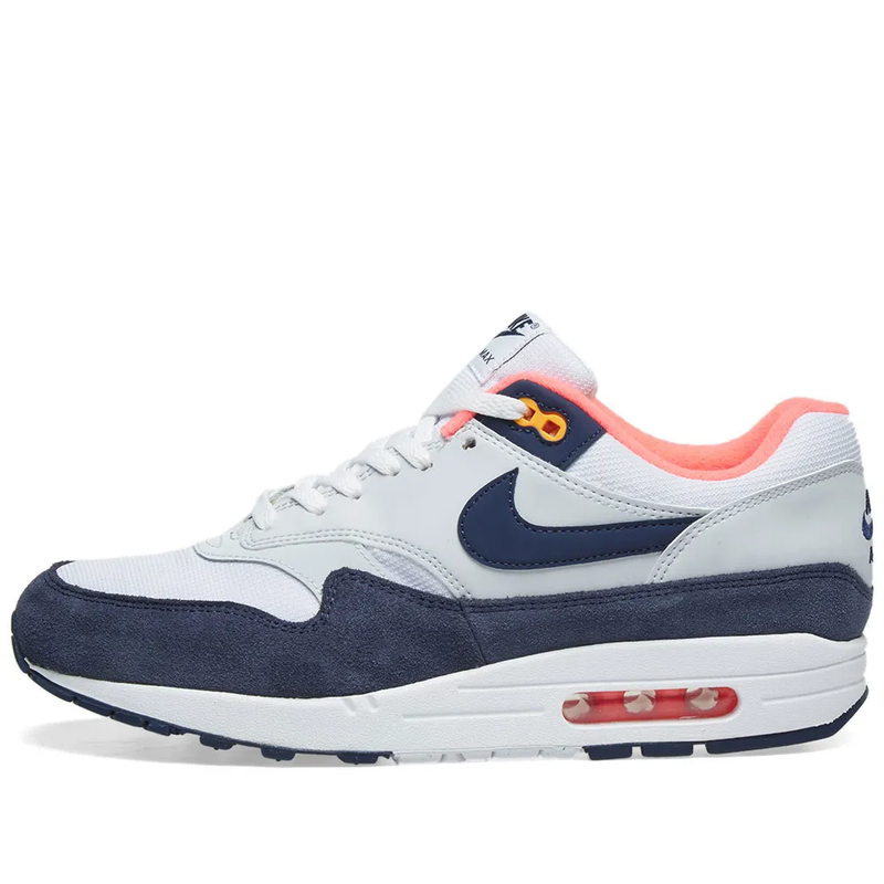 Nike Womens Air Max 1 - White, Navy, Pink & Orange - Workout Crew Athletic Online