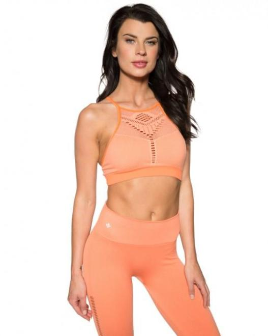 NUX Alana Bra - Creamsicle - Workout Crew Athletic Online