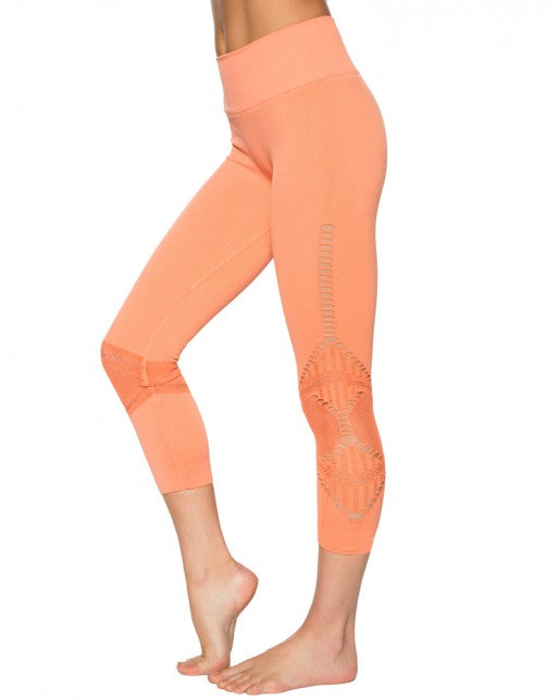 NUX Alana Capri - Creamsicle - Workout Crew Athletic Online