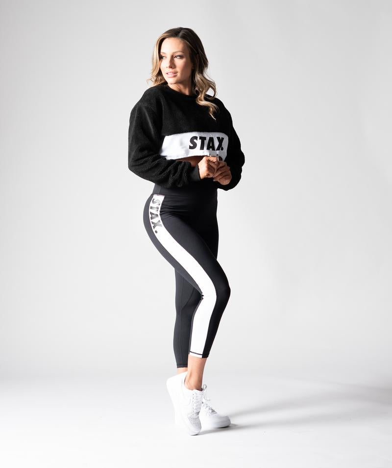 Stax. Luxe Wmns High Waist Tights - Black - Workout Crew Athletic Online